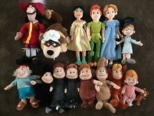 Peter Pan Disney Store Plush Lot Of 14 Rare HTF