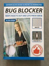 Insektenschutz Weiß Magnet Türvorhang Fliegennetz Fliegenschutz Balkon Tür Neu