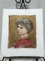 Edna Hibel (1917-2014) Artist Proof Lithograph Title- Child Of Italy