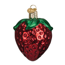 """""""Summer Strawberry"""" (28106) Old World Christmas Glass Ornament"""