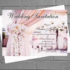 Wedding Party Invitations Day Evening Drapes Reception x 12+env H1848
