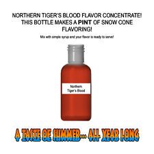 NORTHERN TIGERS BLOOD MIX Snow CONE/SHAVED ICE Flavor PINT BEST CONCENTRATE #1