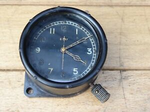 WW2 RAF Spitfire 8 Day Cockpit Clock  / Air Ministry marked 8 Day clock 6A/1150