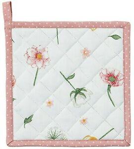 Clayre & Eef Topflappen A Sunny Day Baumwolle 20 x 20 cm geblümt Blumen Pflanzen