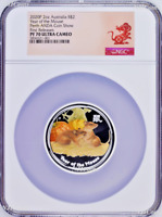 2020 ANDA EXPO PROOF Colored Silver Lunar Year of the MOUSE NGC PF70 2oz $2 Coin