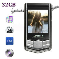 "Slim 1.8"" LCD 32GB MP4 MP3 Music Media Video Player FM-Radio Recorder Game Movie"