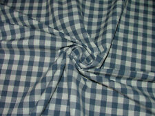 4 Metre Navy Blue Check Gingham Jacquard Curtain Upholstery Cushion Blind Fabric
