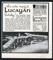 1965 Lucayan Beach Hotel casino Freeport Bahamas photo vintage print ad