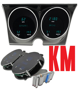 Dakota Digital Dash 67 68 Chevy Camaro Firebird Gauge Cluster MFD367CCAM KM Blue