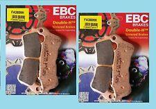 2x conjuntos Ebc fa388hh Sinterizadas Delanteras Pastillas De Freno Honda Vfr800 Crossrunner 2012 -14