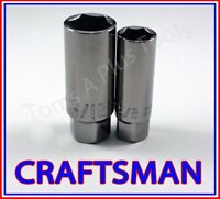 CRAFTSMAN TOOLS 2pc 3/8 Dr Gunmetal Chrome sparkplug ratchet wrench socket set