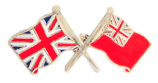 Merchant Navy Red Ensign & United Kingdom Friendship Pin Badge