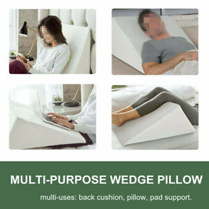 Triangle Bedding Wedge Pillow Cushion Neck Back Acid Reflux Flex / Snoring
