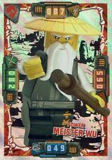 Lego Ninjago Serie 4 TCG Sammelkarten Karte Nr. 45 Power Meister Wu