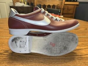 Vintage Women's Nike Bowling Shoes Size 8 Maroon/Silver 830709