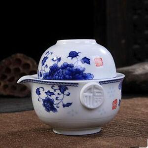 Cup Elegant Gaiwan Eeasy Teapot Kettle Porcelain Teapot Tea Set Include 1 Pot 1