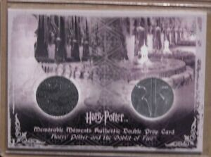 Harry Potter-MM2-GOF-Screen Used-Movie-Prop Card-Yule Ball Drapes & Programs-P8