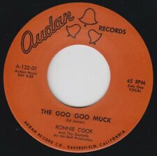 "RONNIE COOK Goo Goo Muck AUDAN Re. 7"" Degenerate Unruly 1962 R&B HEAR The Cramps"