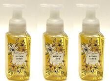 3 BATH & BODY WORKS KITCHEN LEMON GENTLE FOAMING HAND SOAP 8.75 OZ NEW