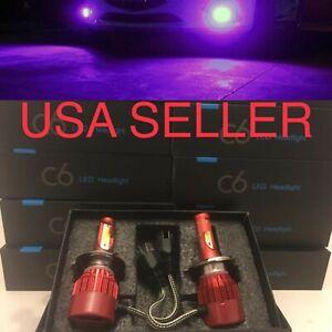 PURPLE H4 LED 12K Headlight Bulb Conversion Kit for Hino 145 165 185 258 268 338