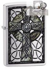 Zippo 29622 Celtic Cross Lighter with PIPE INSERT PL