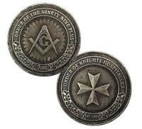 Freemasonry Masonic Order of the Knights Hospitaller Ninety Nine Plus Medal Coin