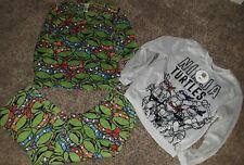 Teenage mutant ninja turtle pajamas & sweatshirt size medium