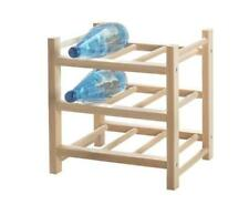 IKEA HUTTEN 9 Bottle Wine Rack Storage Organiser Solid Wood UK-N786