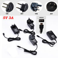 5V 3A USB AC DC Adapter Wall Power Supply Charger Micro for Raspberry Pi /Switch