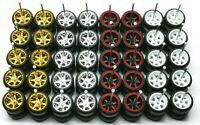 Hot Wheels 6 Spoke Rubber Tire 20 set (4 colors) MIX for JDM 1:64