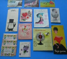 Vintage Lot Of 18 Greeting Cards and Postcards, Notecards