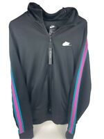 Nike NSW Sportswear N98 Tribute Jacket Black Teal Pink AR2244-011 Size XL New