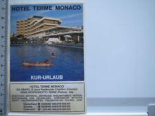 Aufkleber Sticker Monaco - Hotel Therme - Montegrotto (6311)