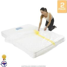 2 x King Bed Plastic Mattress Protector Covers Moving & Storage Bag Dust Cover