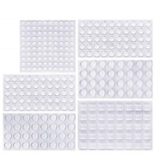 Clear Rubber Feet Bumpers Pads 304 Pieces Adhesive Transparent Bumper Buffer