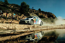Jari Matti LATVALA RALLY DRIVER SIGNED AUTOGRAPH 12x8 WRC Action Photo AFTAL COA