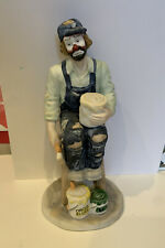 Rare Emmette Kelly Flambro Figurine Collectible Clown Statue Painter Circus