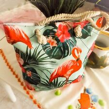 Bag Tote Flamingo Pink Beach Canvas New Large - Women's bag