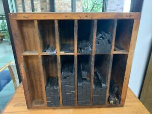 Antique Hamilton Wooden Case Cabinet Printer's Furniture