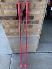 "New listing Vintage Reflex Down Hill Ski Poles 48"" 122cm Pink 80's Skiing USA"