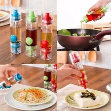 Pack of 2 2 Way Oil/Sauce Dispenser bottle with Porer and spray ( 2 pc set )