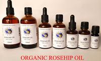 Rosehip Oil Certified 100% Pure Organic - Cold Pressed 10ml, 25ml, 50ml, 100ml