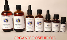 Rosehip Oil Certified 100% Pure Organic - Cold Pressed 10ml, 25ml, 50ml, 100ml
