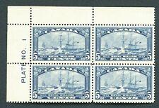 #204  ---- (5c  Royal William 1933) Plate# Block/4 MNH o.g.