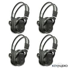 4 New Dual Channel Folding Wireless DVD Infrared Headphones Headset Ford Lincoln