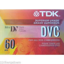 TDK NEW DVM60ME Authentic Camcorder Cassette Tape MiniDV Format - MADE IN JAPAN