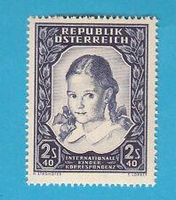 1952 OSTERREICH AUSTRIA 2,40 s. CORRISPONDENZA TRA FANCIULLI  INTEGRO MNH** 817