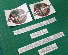 Jeep Wrangler 4.0 L Sahara EDITION Remplacement Côté Stickers Autocollants 1994 - 1995