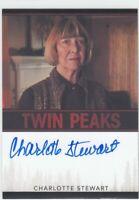 2018 Charlotte Stewart Betty Briggs Twin Peaks AUTO AUTOGRAPH Limited
