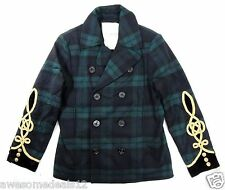 Polo Ralph Lauren Denim & Supply Green Wool Peacoat Jacket  Slim Fit 2XL XXL
